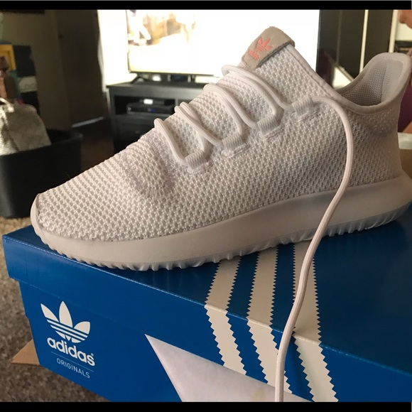 New white adidas tubular shadow shoes women 9.5 6a0d51ec6